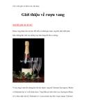 Giáo trình quản trị khách sạn, nhà hàng - Giới thiệu về rượu vang NGUỒN GỐC