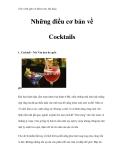 Giáo trình quản trị khách sạn, nhà hàng - Những điều cơ bản về Cocktails