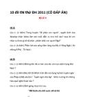 10 đề thi thử ĐH 2011 (CÓ ĐÁP ÁN)  ĐỀ 9+10