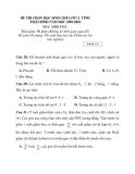 Tuyển tập đề thi học sinh giỏi các môn lớp 12