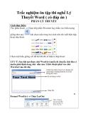 Trắc nghiệm ôn tập thi nghề Lý Thuyết Word ( có đáp án )_4