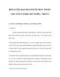 RÈN LUYỆN ĐẠO ĐỨCNGƯỜI THẦY THUỐC VIỆT NAM XÃ HỘI CHỦ NGHĨA – PHẦN 1