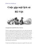 Bồ Đào Nha và chữ Quốc ngữ - Cuộc gặp mặt lịch sử Bồ-Việt  Cuộc gặp gỡ