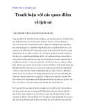 Bồ Đào Nha và chữ Quốc ngữ - Tranh luận với các quan điểm về lịch sử