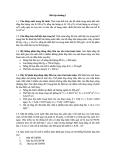 Mô hình hóa môi trường - Bài Tập