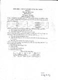Đề thi: Vật lý lò phản ứng hạt nhân đề 2