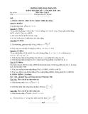 KIỂM TRA HỌC KÌ I - NĂM HỌC 2010 - 2011 Môn Toán - Lớp 11  TRƯỜNG THPT ĐẶNG TRẦN CÔN
