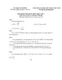 Tổng hợp đề thi học kì 1 môn Toán lớp 11 năm 2010-2011 -  Trường THPT Vũ Duy Thanh