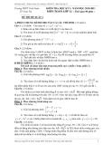 Đề thi đề xuất 1 – Kiểm tra Học kỳ 1 năm học 2010-2011 – Môn Toán lớp 12  Trường THPT Vinh Xuân
