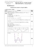 Đề thi đề xuất 1 – Kiểm tra Học kỳ 1 năm học 2010-2011 – Môn Toán lớp 12