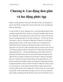 Chống Duyhring II Kinh tế chính trị học - Chương 6: Lao động đơn giản và lao động phức tạp