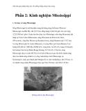 Thử tìm giải pháp thủy lợi cho đồng bằng sông Cửu Long - Phần 2: Kinh nghiệm Mississippi