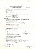 Đề thi môn: Phương pháp toán lý
