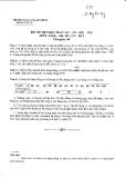 Xác suất thống kê - Đề thi K33 năm 2