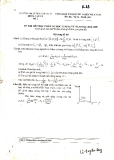 Đề thi khóa 33 trường ĐHSP năm 3 khoa vật lý - Cơ lượng tử