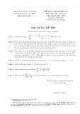 Đề thi kèm bài giải Toán cao cấp (vi tích phân a1)