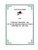 Đề tài: Chiến lược Marketing - mix với việc mở rộng thị trường của Công ty Kính Đáp Cầu - Bắc Ninh
