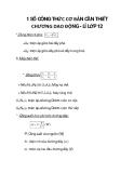 1 SỐ CÔNG THỨC CƠ BẢN CẦN THIẾT CHƯƠNG DAO ĐỘNG - LÍ LỚP 12 phần 3