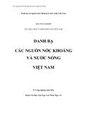 Các nguồn nước khoáng & nước nóng Việt Nam - Mở đầu