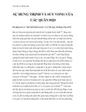 """Tiểu luận về chiến tranh """" SỰ HƯNG THỊNH VÀ SUY VONG CỦA CÁC QUÂN ĐỘI """""""