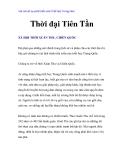Vài nét về sự phát triển của Triết học Trung Hoa - Thời đại Tiên Tần