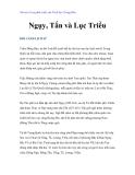 Vài nét về sự phát triển của Triết học Trung Hoa -  Ngụy, Tấn và Lục Triều