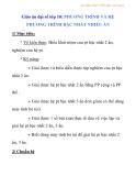 Giáo án đại số lớp 10: PHƯƠNG TRÌNH VÀ HỆ PHƯƠNG TRÌNH BẬC NHẤT NHIỀU ẨN  - 2