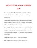 10 BÍ QUYẾT ĐỂ SỐNG HẠNH PHÚC HƠN