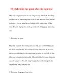 10 cách sống lạc quan cho các bạn trai