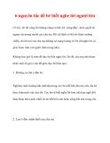 6 nguyên tắc để bé biết nghe lời người lớn