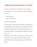 Những qui tắc đơn giản khi dạy con từ nhỏ