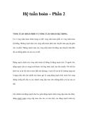 Hệ tuần hoàn – Phần 2
