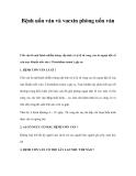 Bệnh uốn ván và vacxin phòng uốn ván