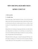 NGUYÊN NHÂN TỔN THƯƠNG ĐÁM RỐI THẦN KINH CÁNH TAY