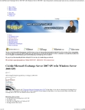 Cài đặt Microsoft Exchange Server 2007 SP1 trên Windows Server 2003