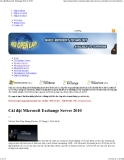 Cài đặt Microsoft Exchange Server 2010