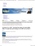 Exchange Server 2007 - Giải pháp Messaging cho doanh nghiệp - Phần 1