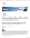 Exchange Server 2007 - Giải pháp Messaging cho doanh nghiệp - Phần 5