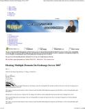 Hosting Multiple Domain On Exchange Server 2007