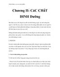 Dinh dưỡng và an toàn thực phẩm - Chương II: CáC CHấT DINH Dưỡng