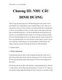 Dinh dưỡng và an toàn thực phẩm Chương III: NHU CầU DINH DƯỡNG