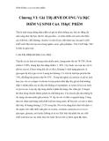 Dinh dưỡng và an toàn thực phẩm - Chương VI: Giá TRị dINH DUỡNG Và ĐặC ĐIểM Vệ SINH CủA THựC PHẩM