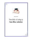 Báo cáo thực tập: Tìm hiểu về công ty Sun-Rise solution