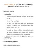 Giáo án hình học 10 :PHƯƠNG TRÌNH TỔNG QUÁT CỦA ĐƯỜNG THẲNG ( Tiết 1)