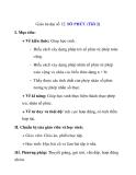 Giáo án đại số 12: SỐ PHỨC (Tiết 2)