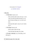 Giáo án đại số 12: SỐ PHỨC (Tiết 3)