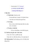 Giáo án đại số 12: LUYỆN TẬP SỐ PHỨC ( chương trình nâng cao )