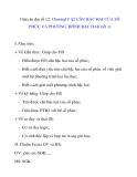 Giáo án đại số 12:  CĂN BẬC HAI CỦA SỐ PHỨC VÀ PHƯƠNG TRÌNH BẬC HAI( tiết 1)