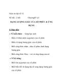 Giáo án đại số 12: DẠNG LƯỢNG GIÁC CỦA SỐ PHỨC & ỨNG DỤNG