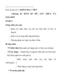 Giáo án đại số 12: KIỂM TRA 1 TIẾT Chương II: HÀM SỐ MŨ, LŨY THỪA VÀ LOGARIT
